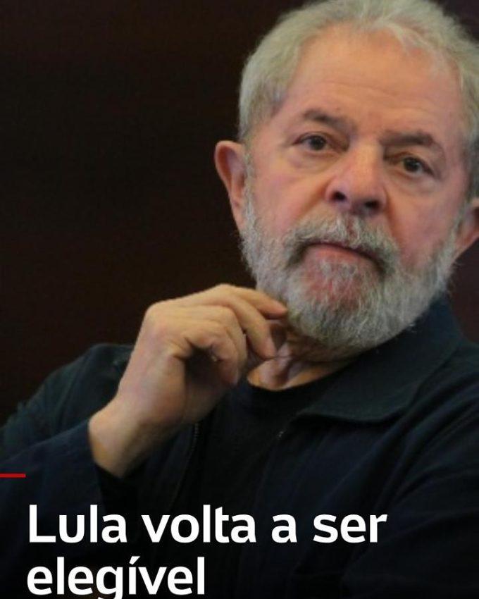 Lula Livre, leve, solto, apaixonado e Vacinado.